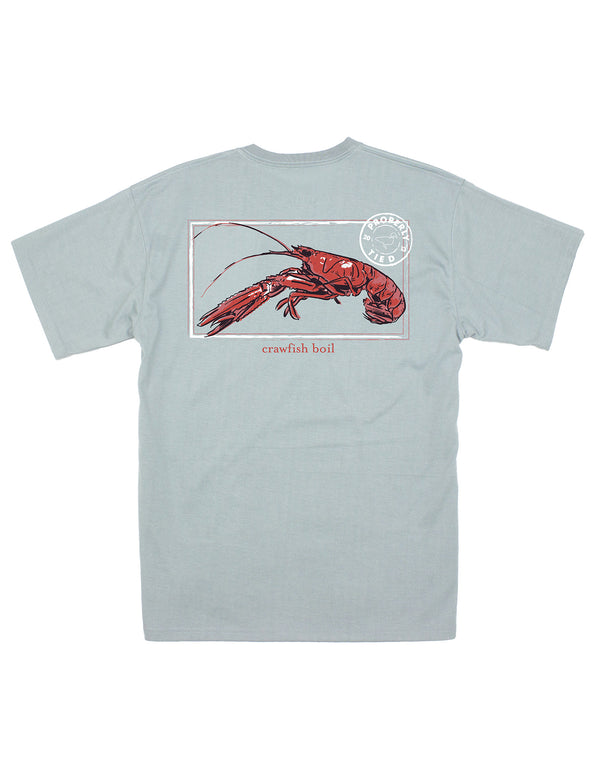 Crawfish Season SS Chrome Grey