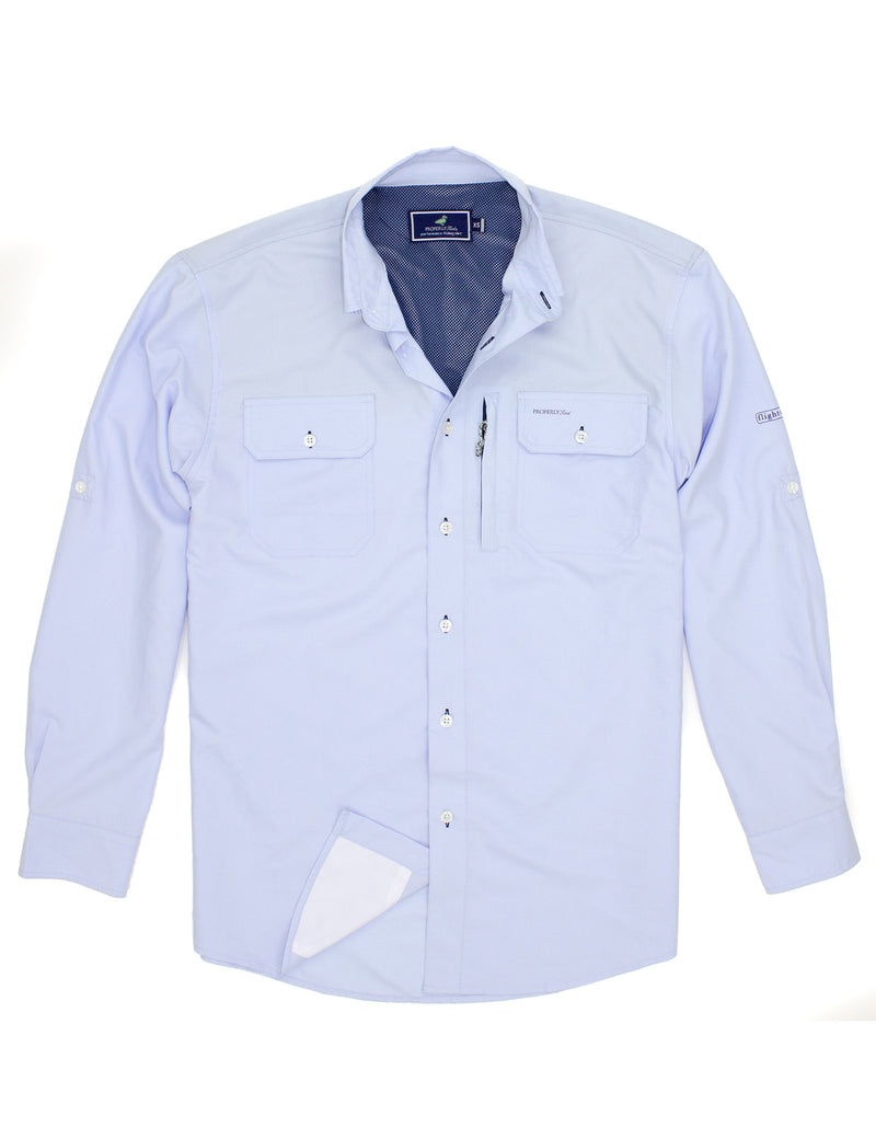 LD Offshore Fishing Shirt Light Blue