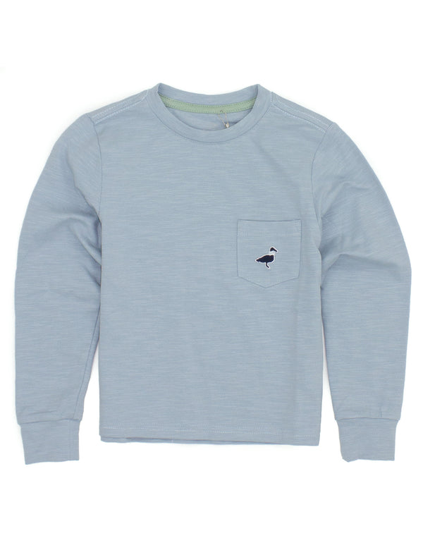 LD Shore Tee LS Salt Blue