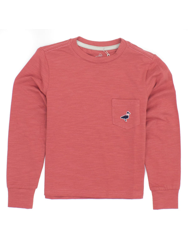 LD Shore Tee LS Nantucket Red