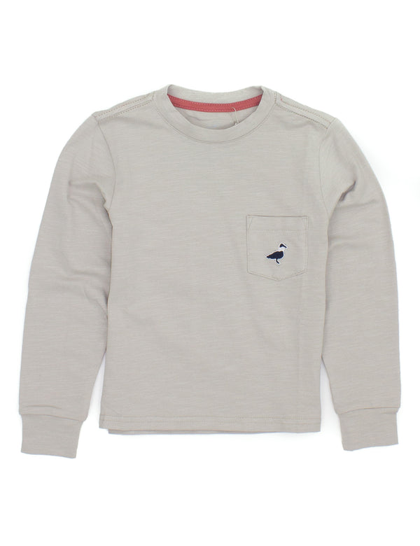 LD Shore Tee LS Pewter