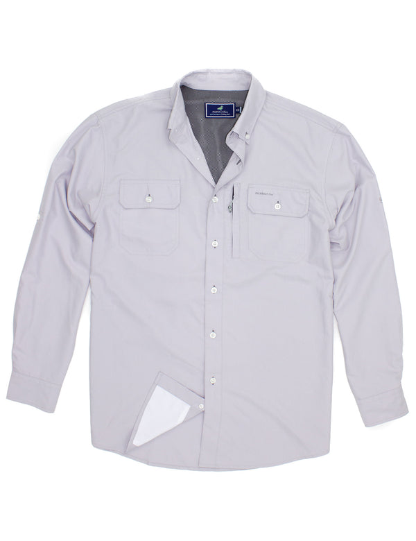 LD Offshore Fishing Shirt Pewter