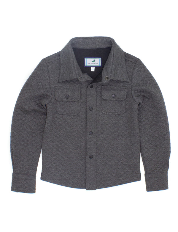 LD Cooper Shirt Jacket Dark Heather Grey