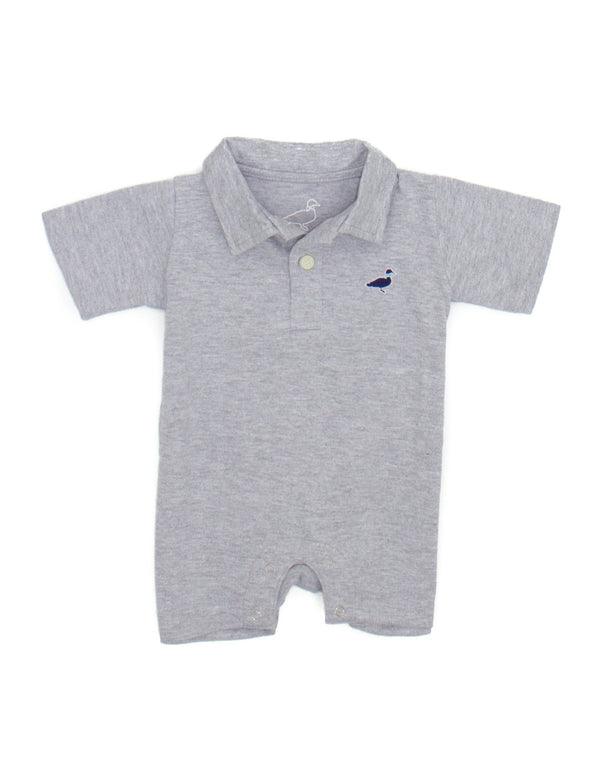 LD Louis Polo Shortall Light Heather Grey
