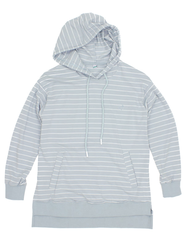 LD Reece Hoodie Washed Blue Stripe