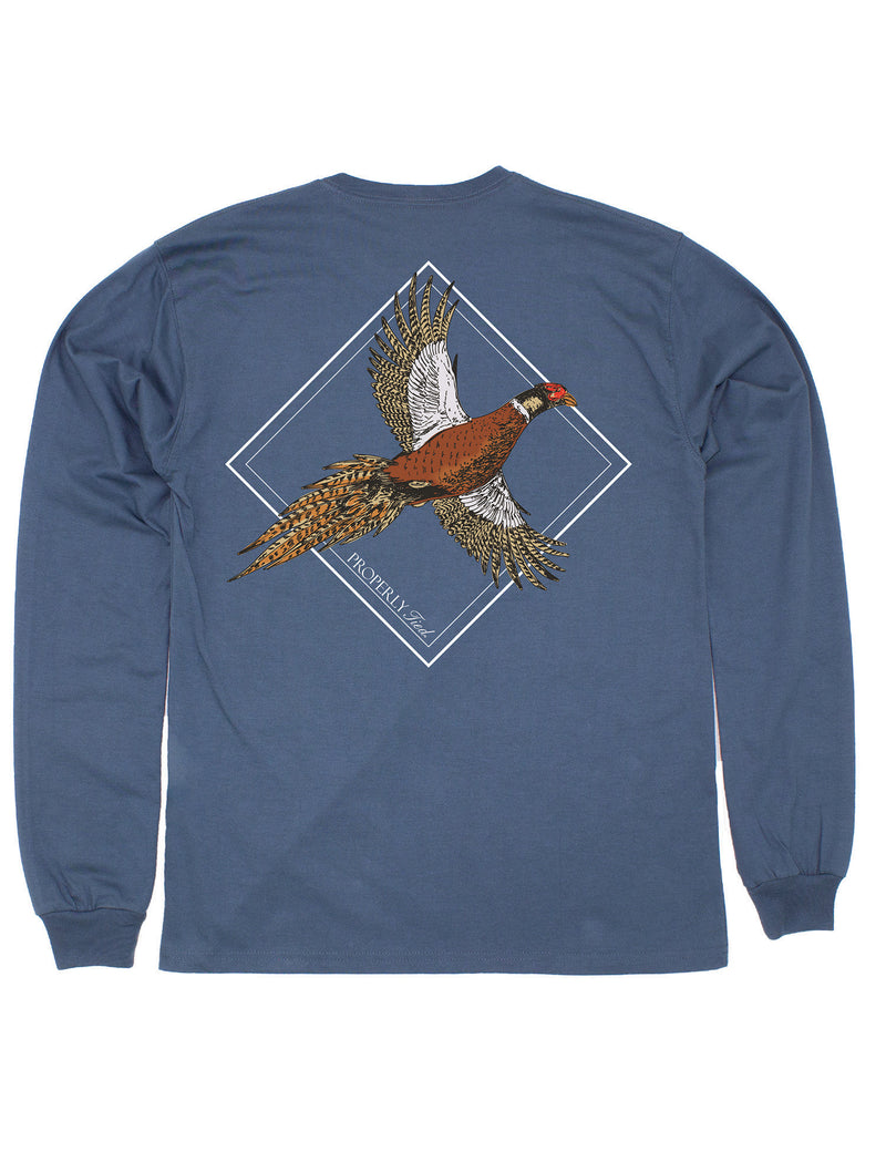 LD Flying Pheasant LS Stone Blue