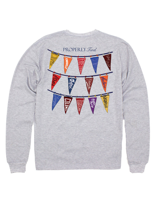 LD Classic Pennants LS Light Heather Grey