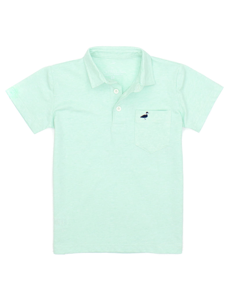 LD Harrison Pocket Polo Seafoam