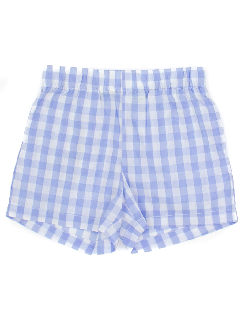 LD Baby Hayden Short Light Blue Gingham