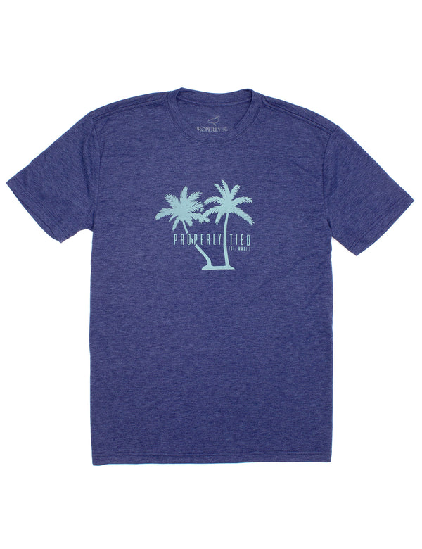 Portland Tee SS Palms Navy Heather