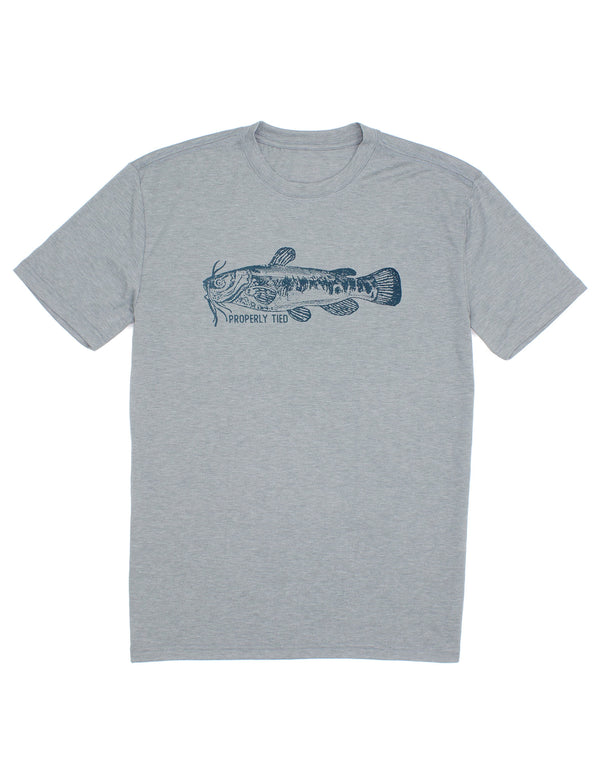 Portland Tee SS Catfish Moss Grey