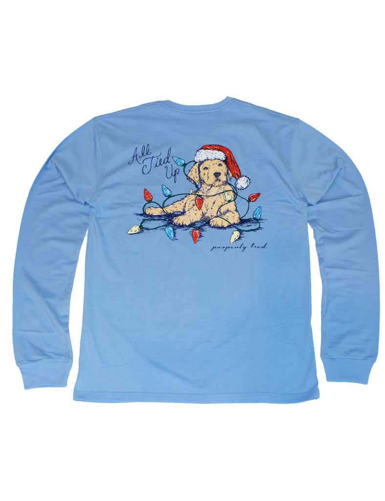 All Tied Up Long Sleeve Light Blue
