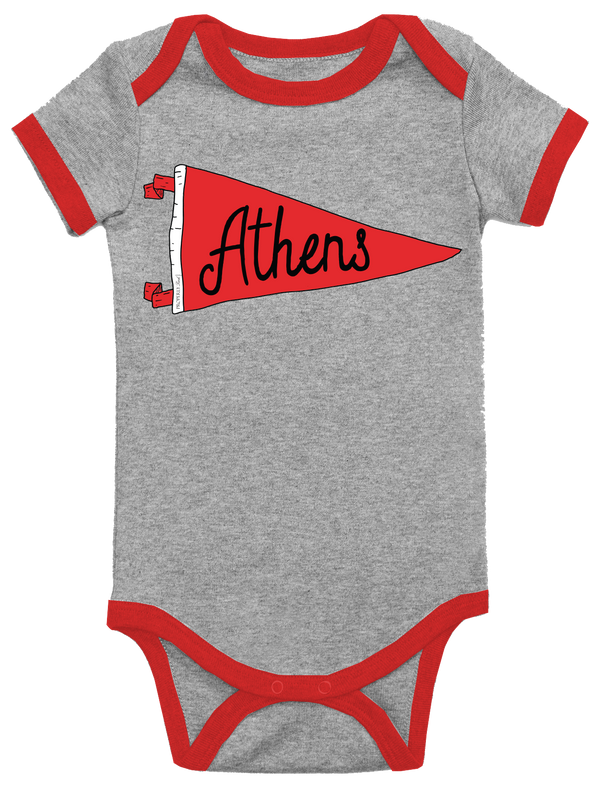 BABY PENNANT ONEPIECE - ATHENS - LIGHT HEATHER GREY - FINAL SALE