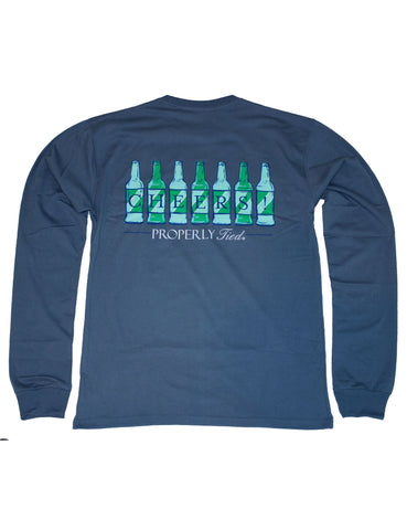 Fish Signal Long Sleeve Navy