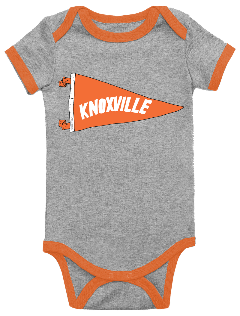 BABY PENNANT ONEPIECE - KNOXVILLE - LIGHT HEATHER GREY - FINAL SALE
