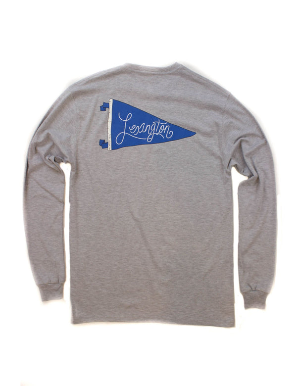 PENNANT TEE LS - LEXINGTON - LIGHT HEATHER GREY - FINAL SALE