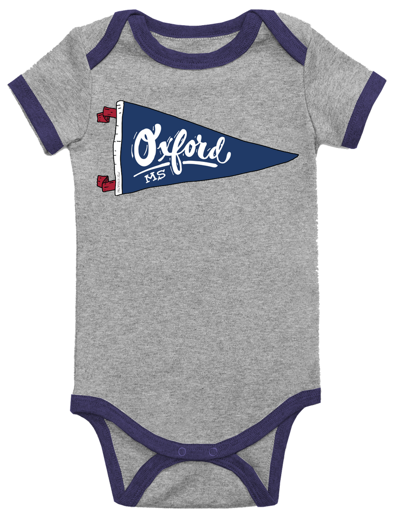 BABY PENNANT ONEPIECE - OXFORD - LIGHT HEATHER GREY - FINAL SALE