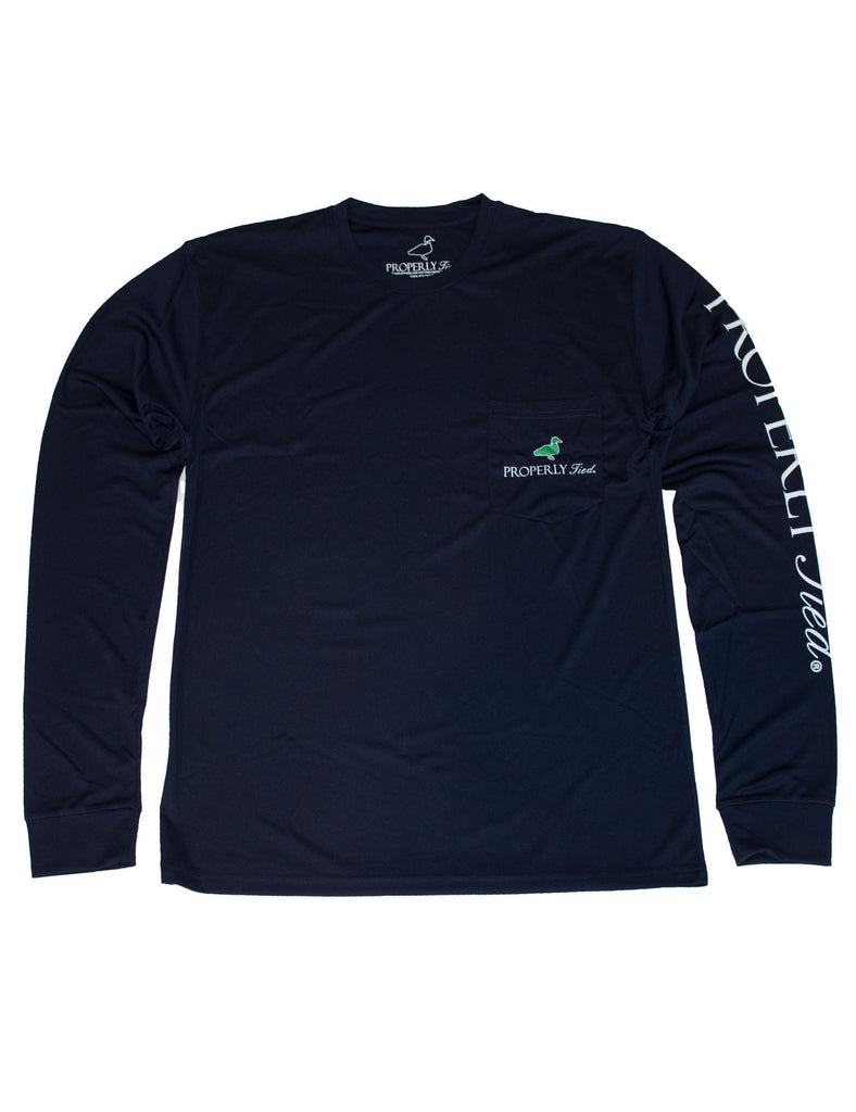 Lil Ducklings Performance Long Sleeve Tee Navy