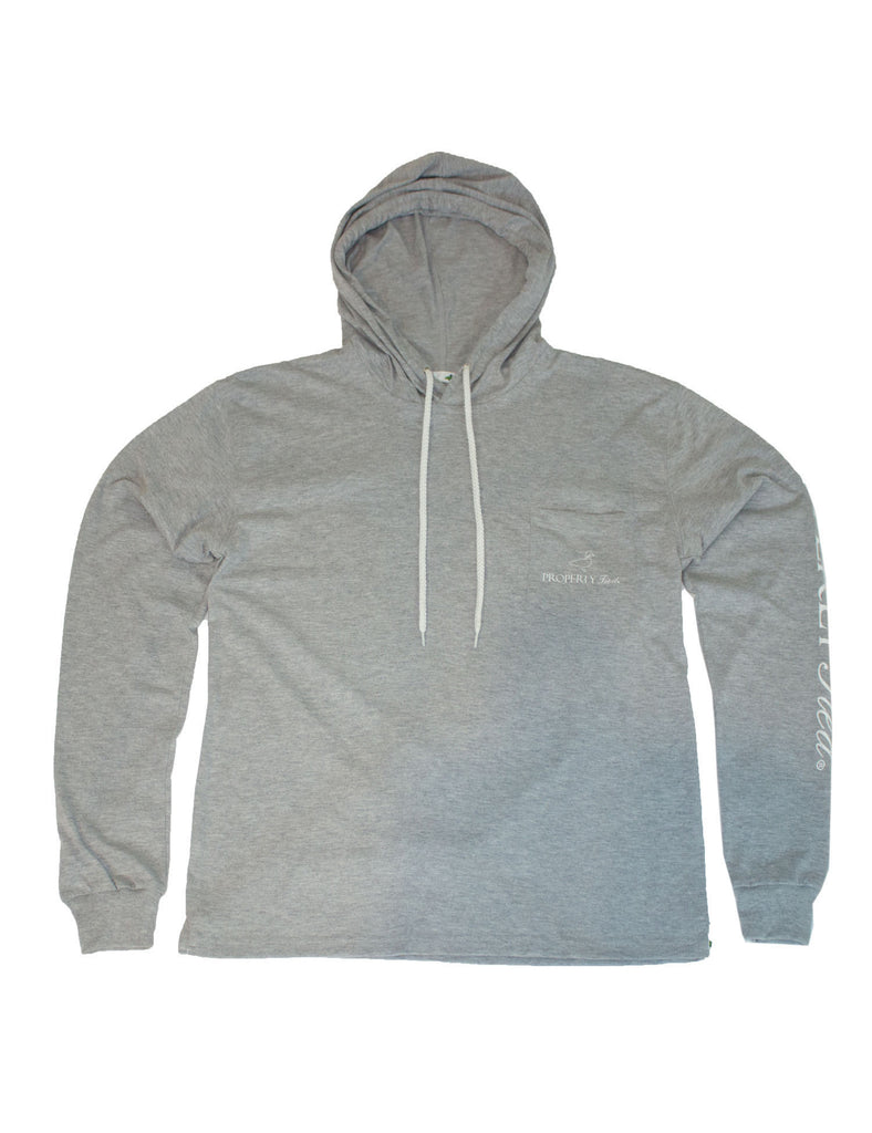 Pima Tee Hoodie Light Heather Grey