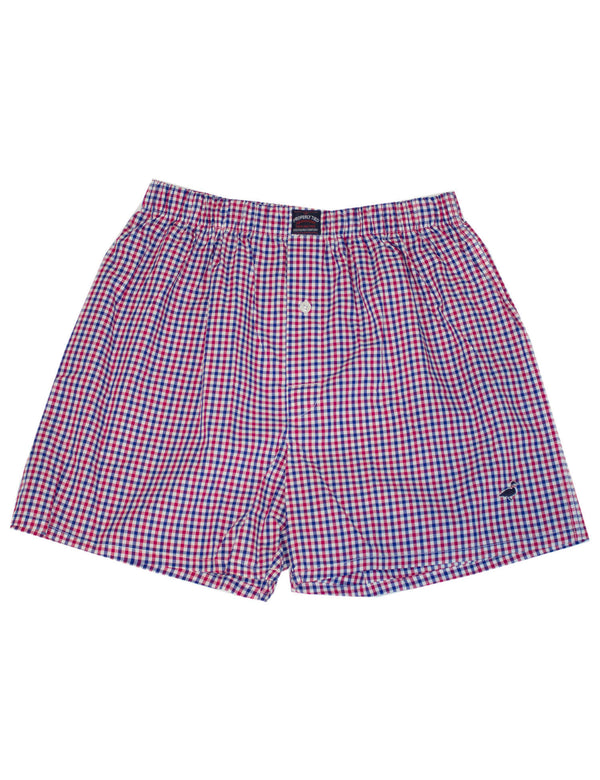 Traditional Boxer Navy Red Check