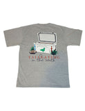 Tailgating In The South Short Sleeve Light Heather Grey