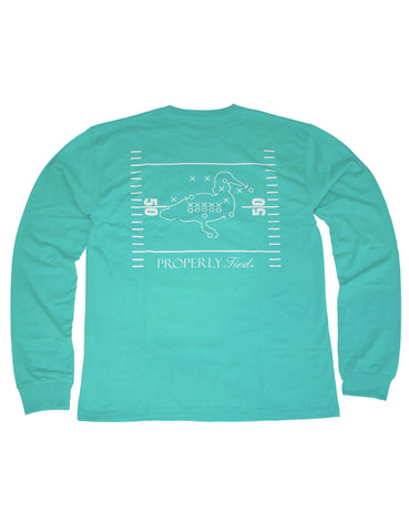 Tailgating In The South Long Sleeve Light Heather Grey