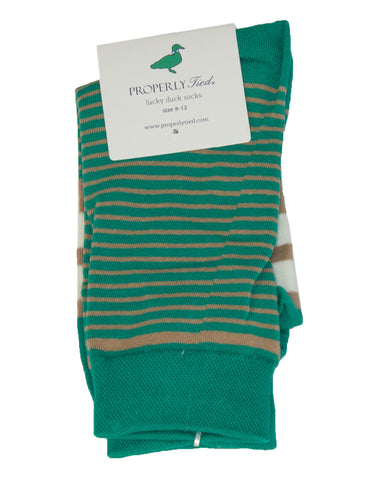 Lucky Duck Sock Capitol Stripe