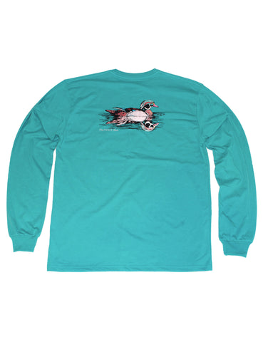 Lil Ducklings Fish Signal Long Sleeve Navy