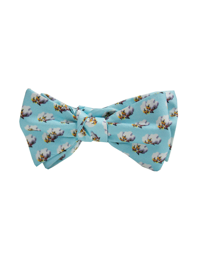 Youth Light Blue Cotton Bow