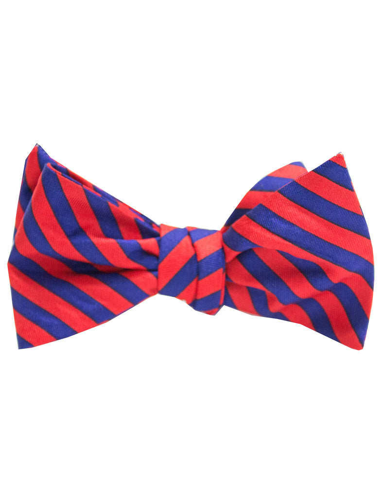 Youth Navy Red Stripe Bow