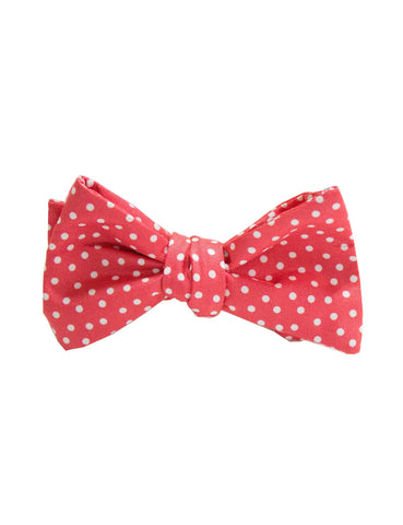 Neck Tie Peach Dots