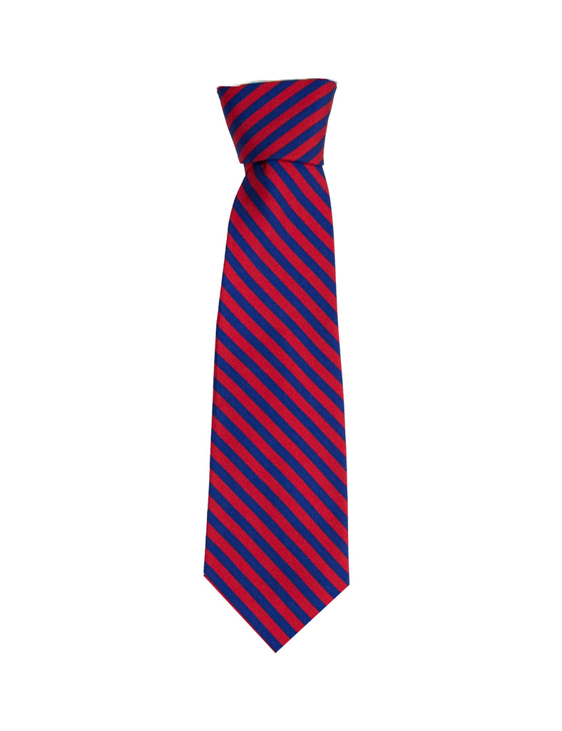 Youth Navy Red Stripe Neck Tie