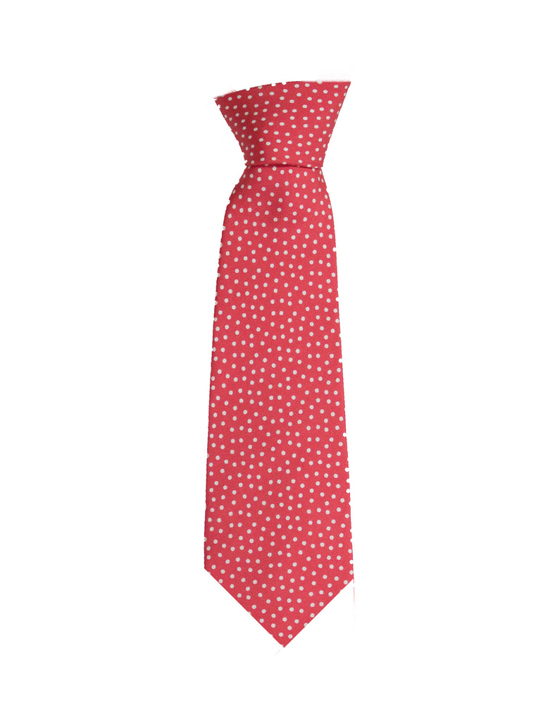 Youth Peach Dots Neck Tie