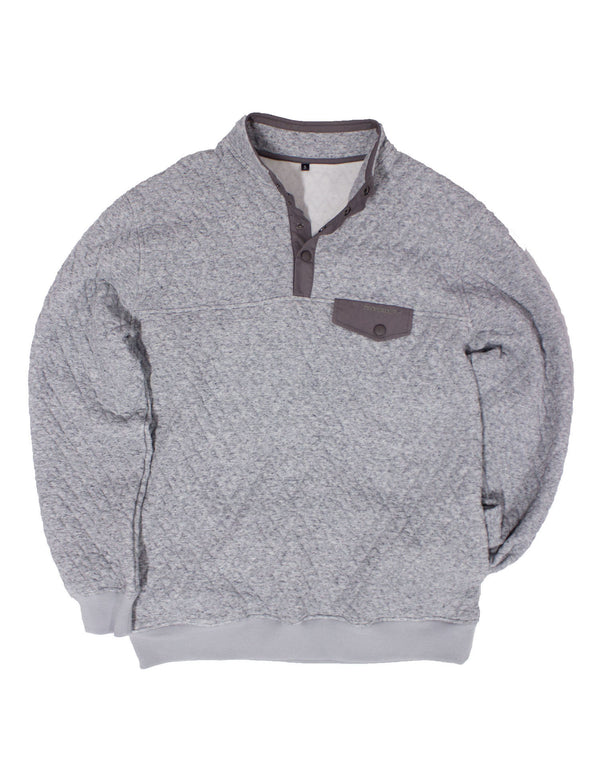 Monroe Quilted Pullover Charcoal Heather