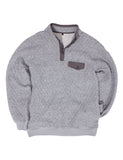 Quilted Pullover Charcoal Heather