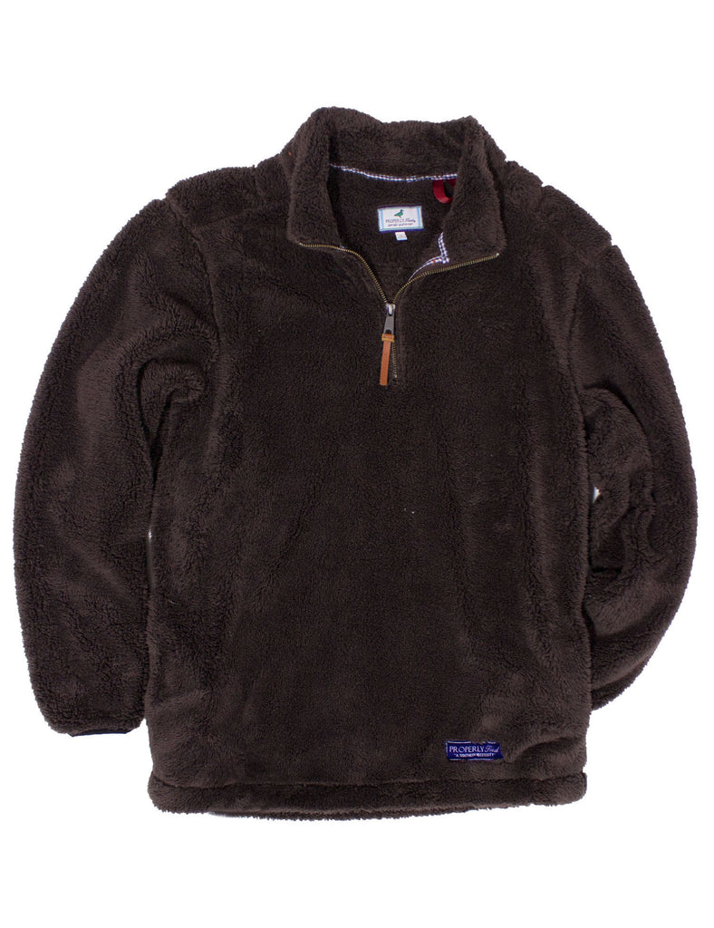 Lil Ducklings Range Pullover Chocolate