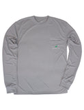 Performance Long Sleeve Tee Chrome