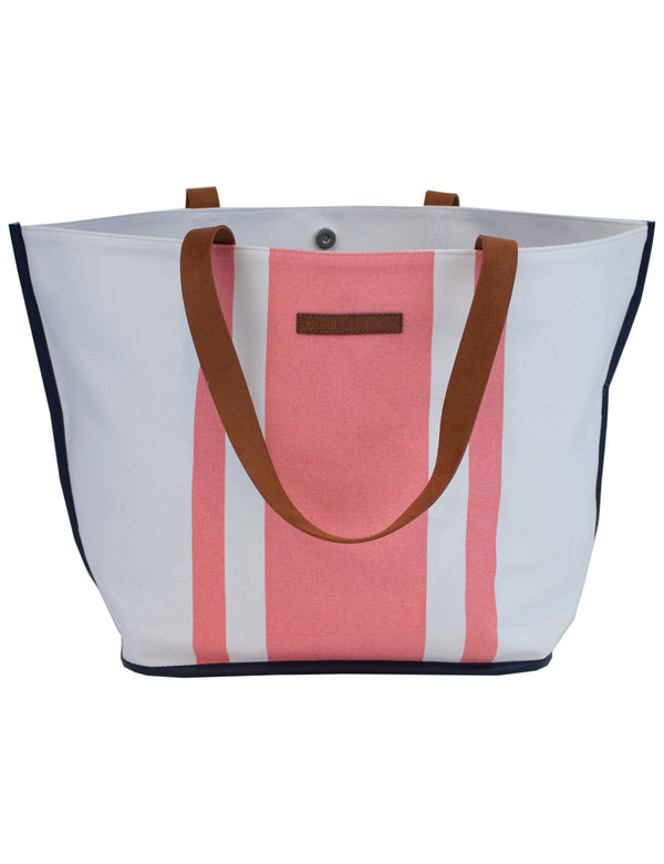 Kelly Tote Coral Stripe