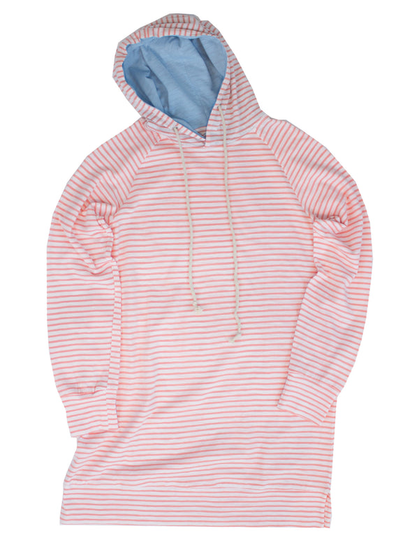 LD Montauk Dress Coral Stripe