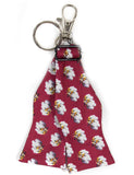 Bow Tie Keychain Cotton Red