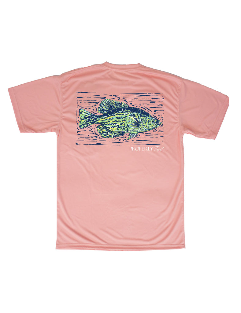 Lil Ducklings Short Sleeve Performance Tee Crappie Melon
