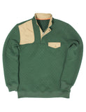 Quilted Shooter Pullover Dark Green