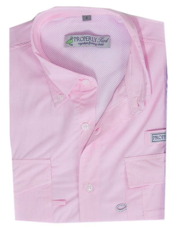Lil Ducklings Performance Fishing Shirt Light Pink