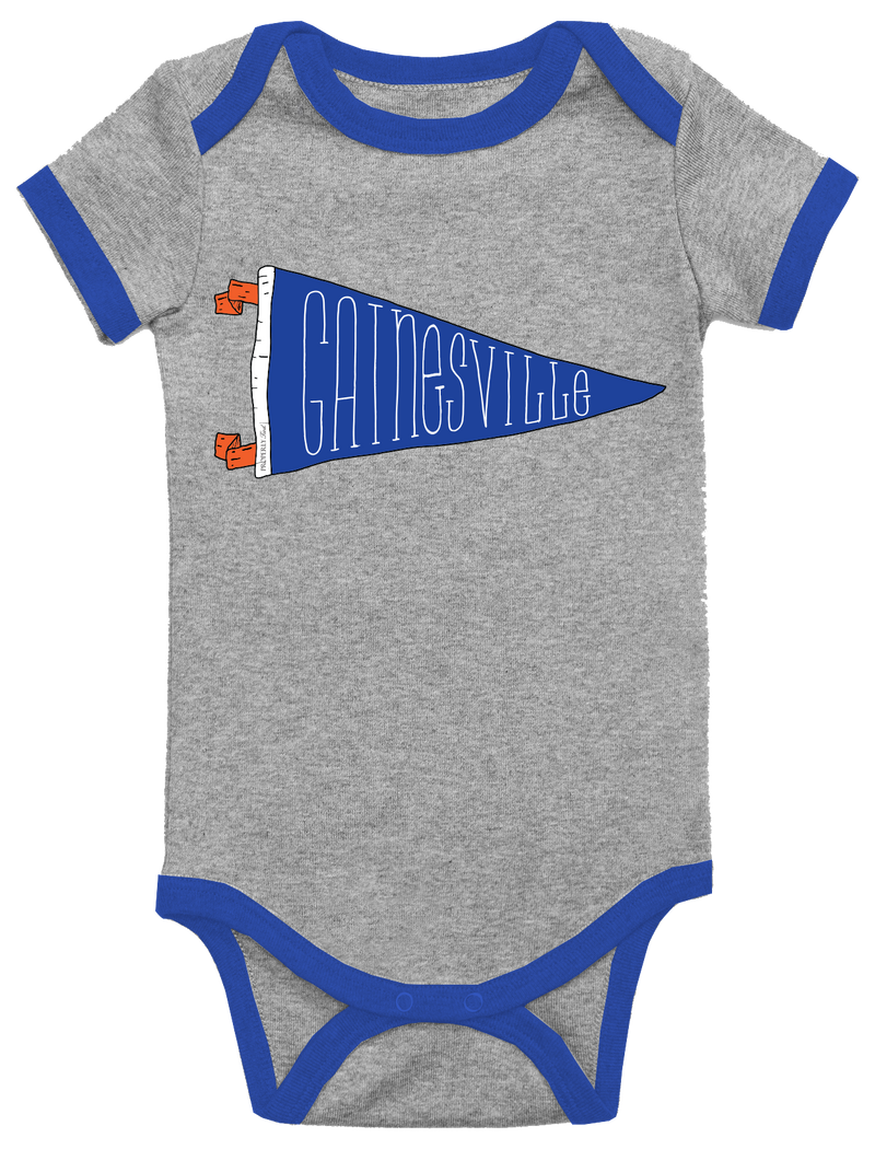 BABY PENNANT ONEPIECE - GAINESVILLE - LIGHT HEATHER GREY - FINAL SALE