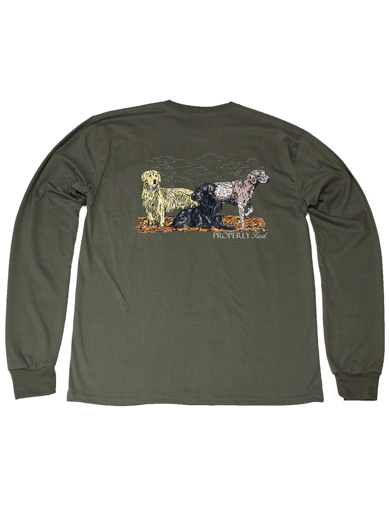 LD Hunting Dogs LS Olive