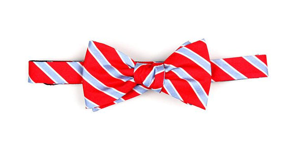 Bow Tie Red and Light Blue