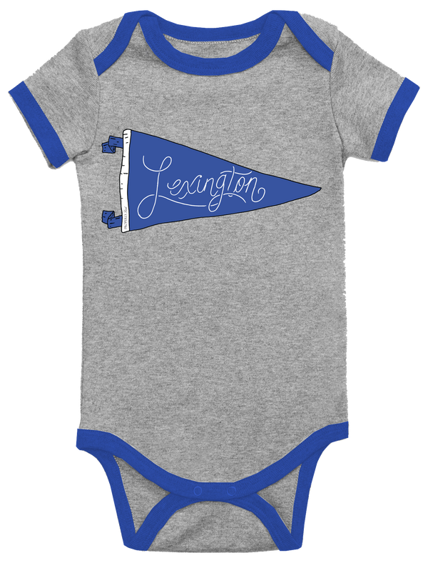 BABY PENNANT ONEPIECE - LEXINGTON- LIGHT HEATHER GREY - FINAL SALE