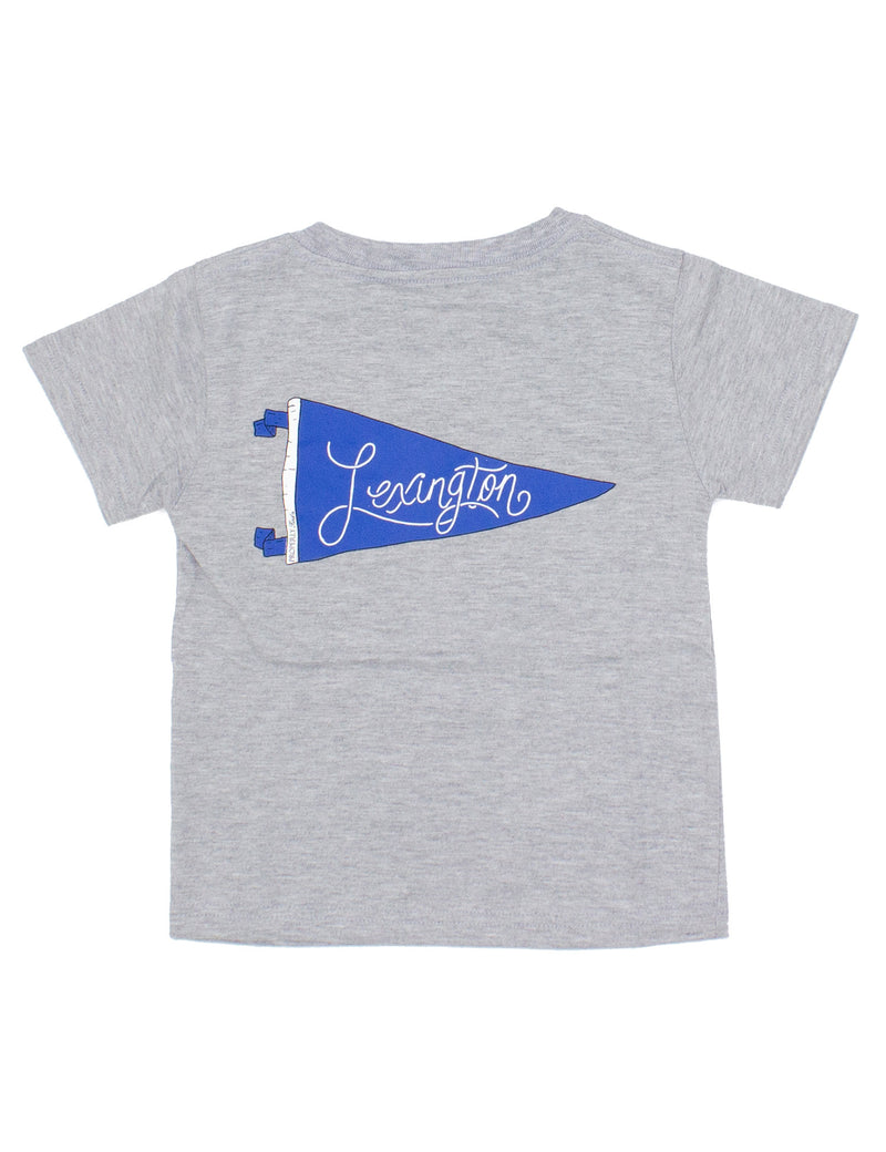 PENNANT TEE SS - LEXINGTON - LIGHT HEATHER GREY - FINAL SALE