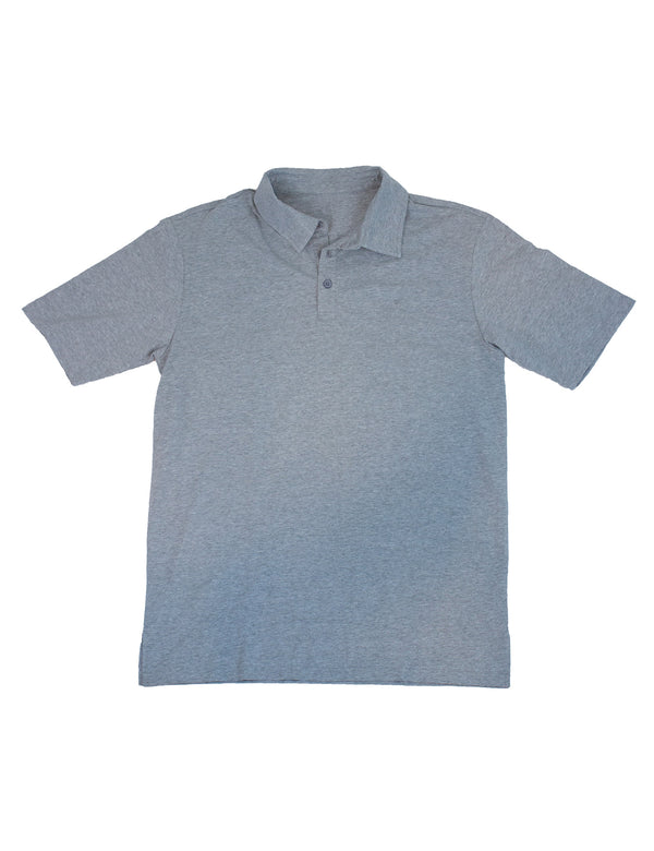 Breaker Polo Light Heather Grey