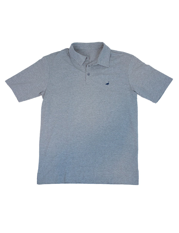 LD Breaker Polo Light Heather Grey